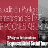 IX Postgrado Iberoamericano de Responsabilidad Social Empresarial