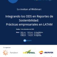 Webinar 14/12- Integrando los ODS en Reportes de Sostenibilidad: Prácticas empresarias en LATAM